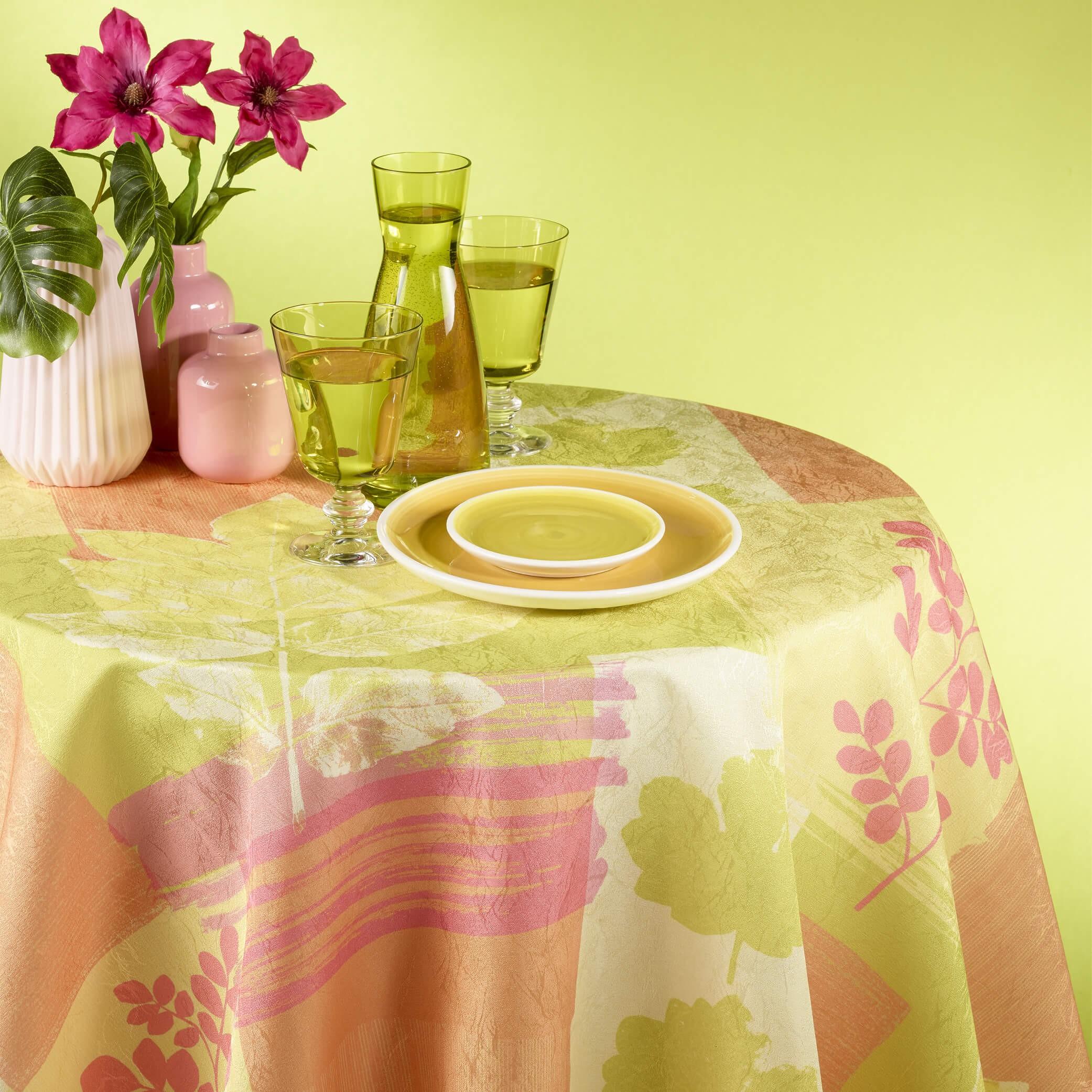 Bedruckte Gartentischwäsche mit Fleckschutz HERBS