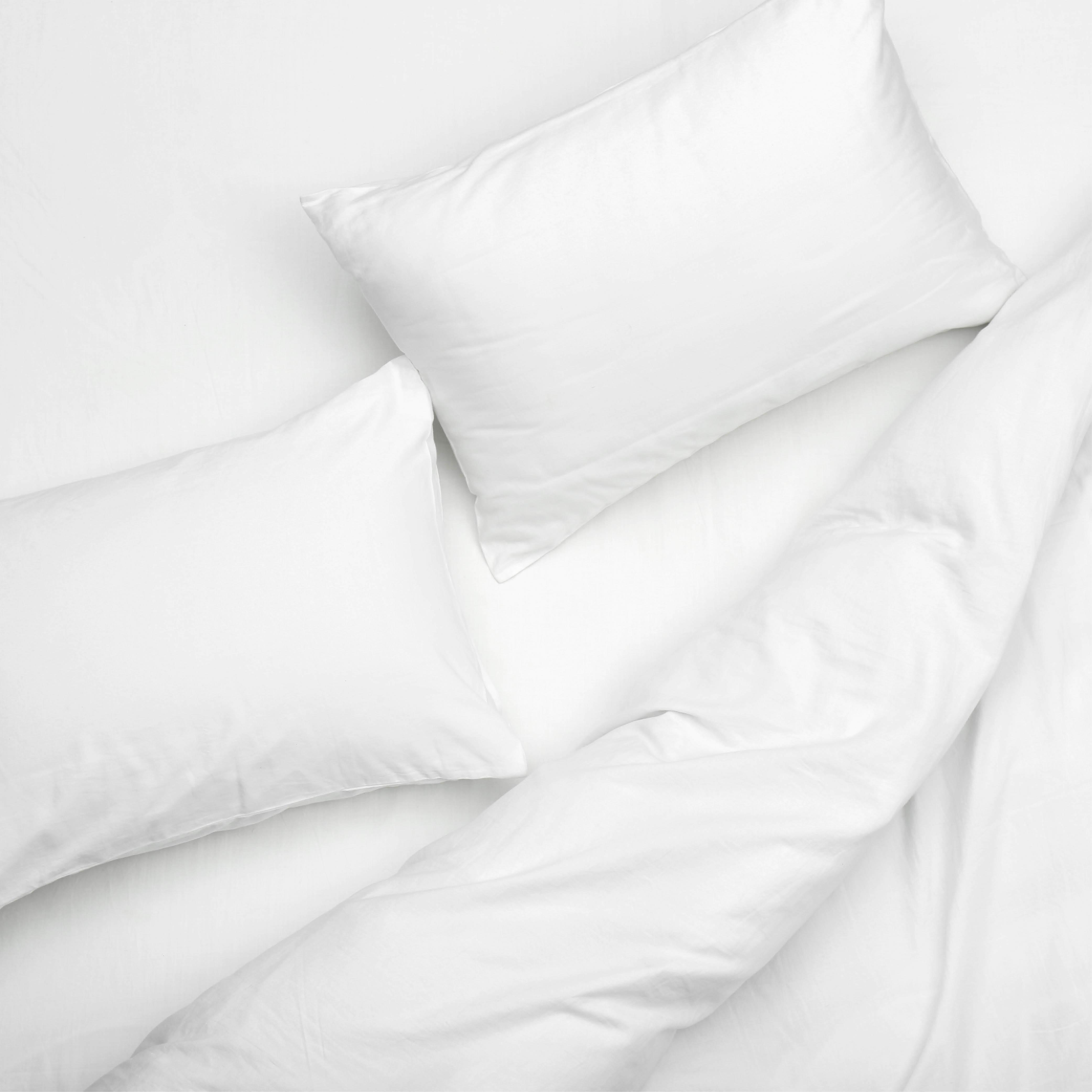Parure de lit EARL en percale blanc
