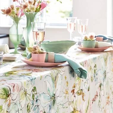 Tischläufer ANGELINA aus bedruckter Baumwolle von Proflax