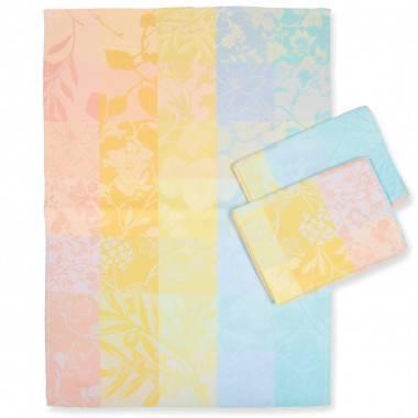 Farbenfrohes Geschirrtuch mit Patchwork und Karo-Design