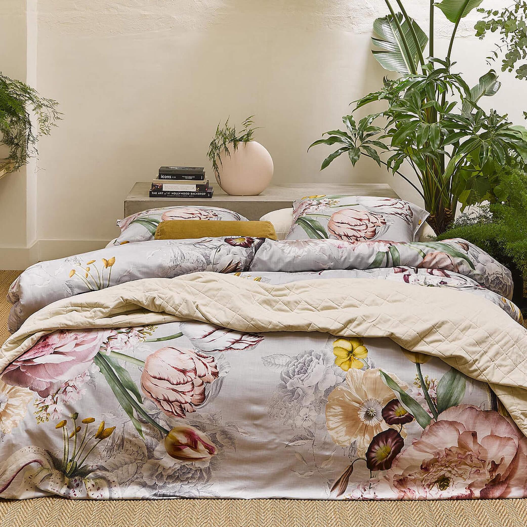 Bedruckte Bettwäsche aus Baumwollsatin AIMEE von Essenza