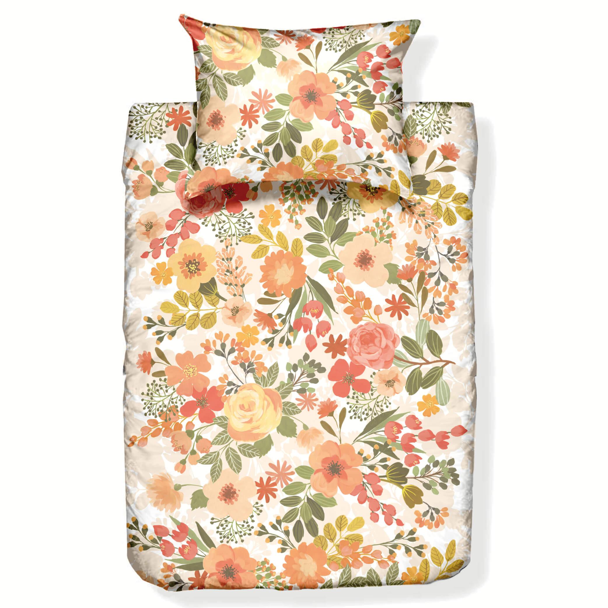 Bettwäschegarnitur OLGA aus Baumwollsatin