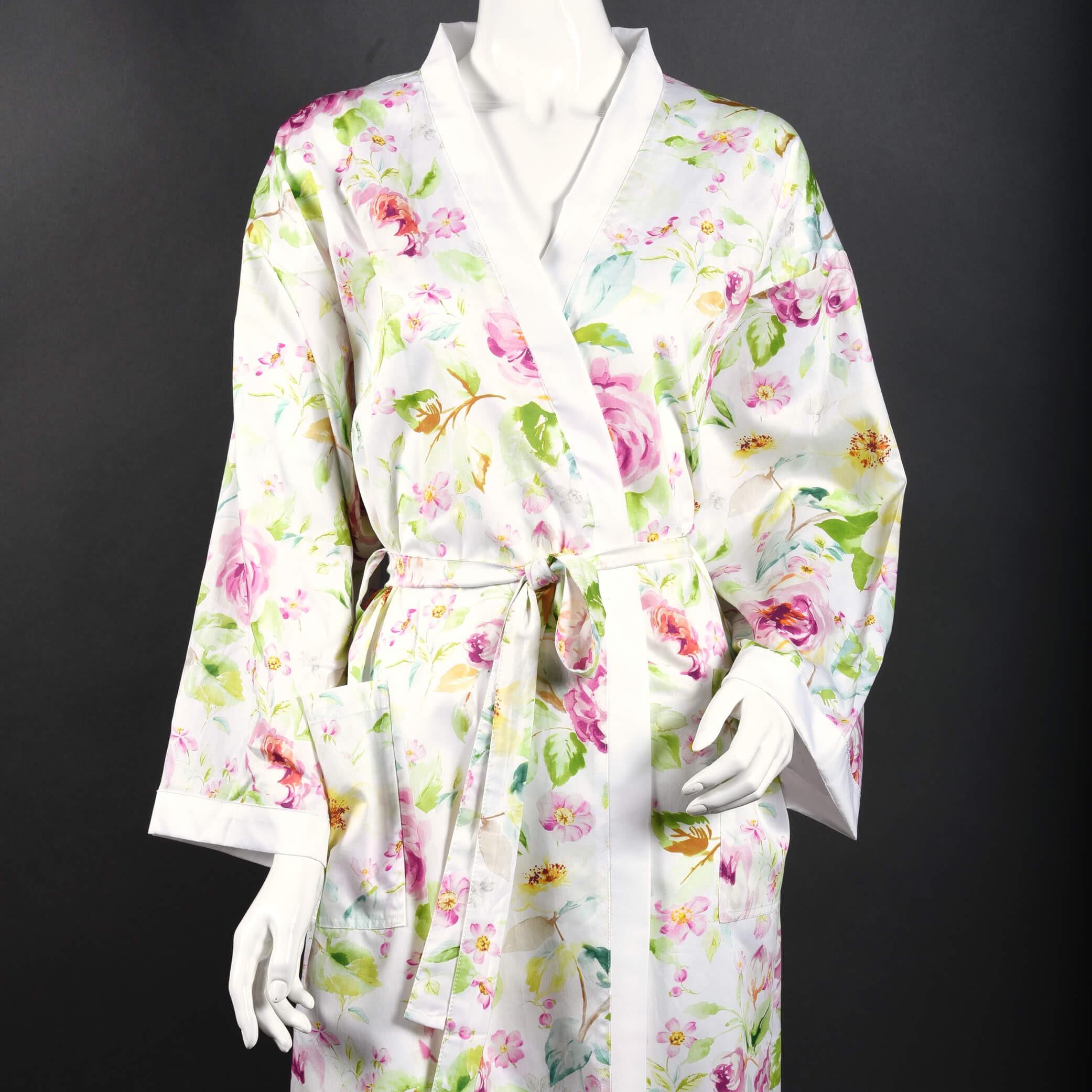 Kimono  ROSINA aus Baumwollsatin