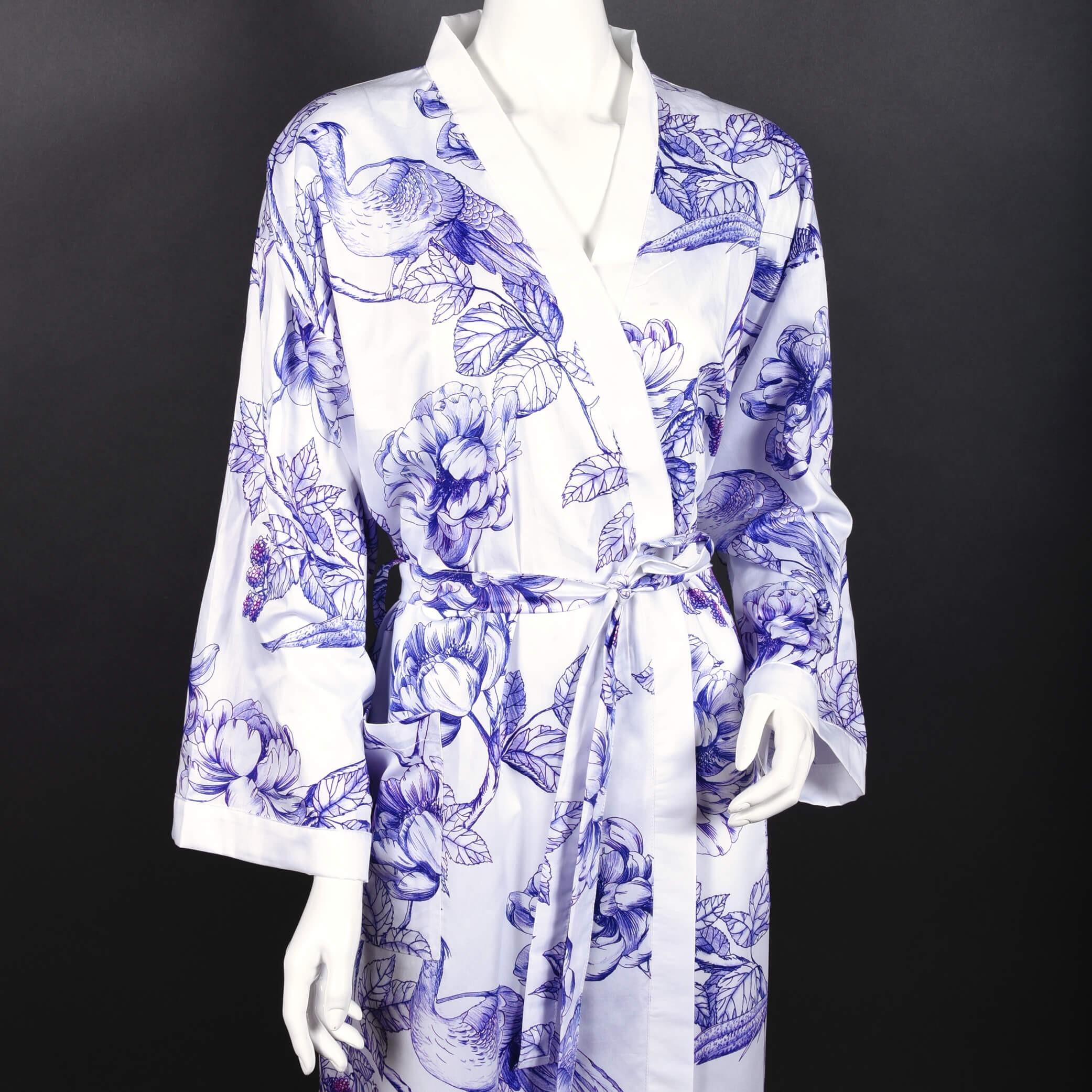 Kimono  JOUY aus Baumwollsatin