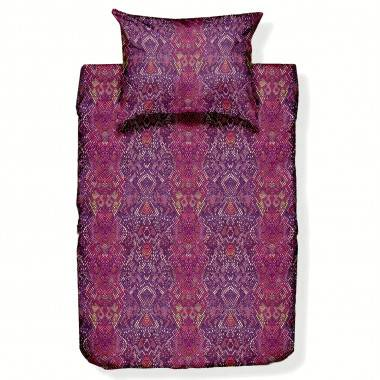 Bedruckte Bettwäschegarnitur MEDUSA aus Baumwollsatin