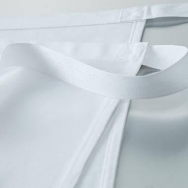 Tablier blanc en mi-fil LINO