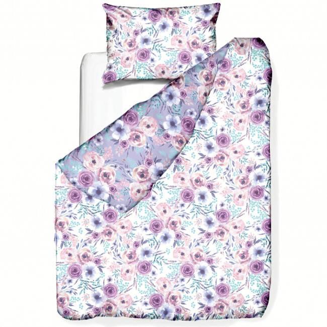 Bedruckte Bettwäschegarnitur MARLIES aus Baumwollsatin