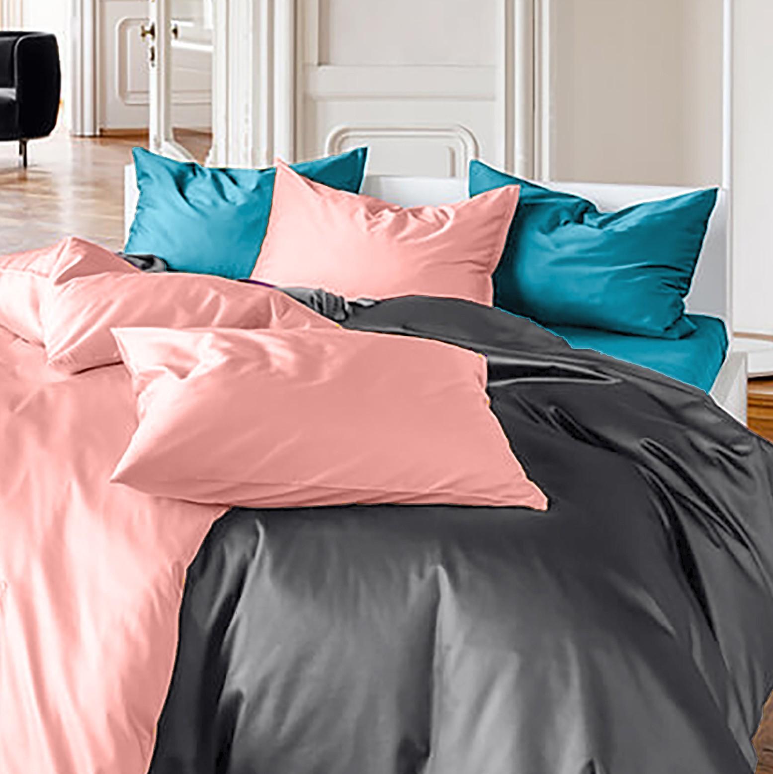 Bettwäsche aus Baumwoll-Satin in eleganten Farben