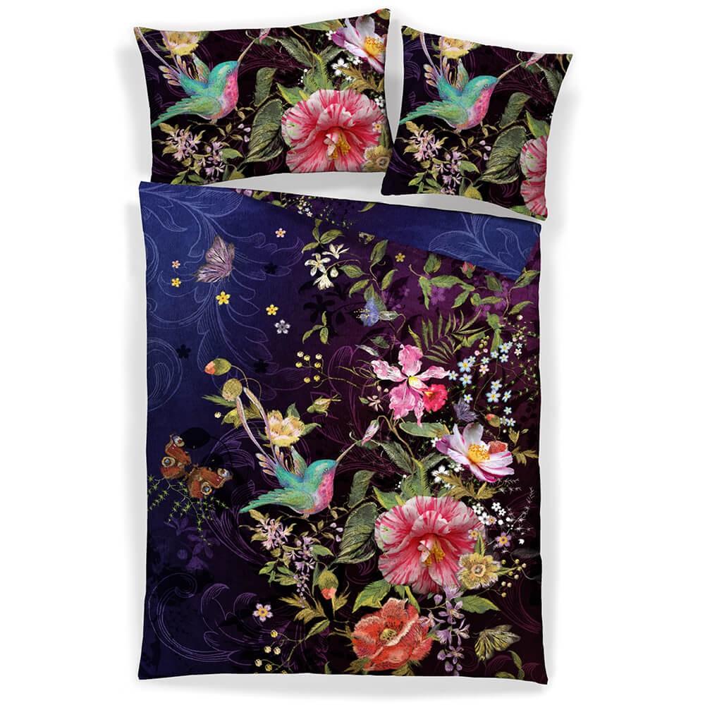Bedruckte Bettwäsche EMBO aus Baumwollsatin
