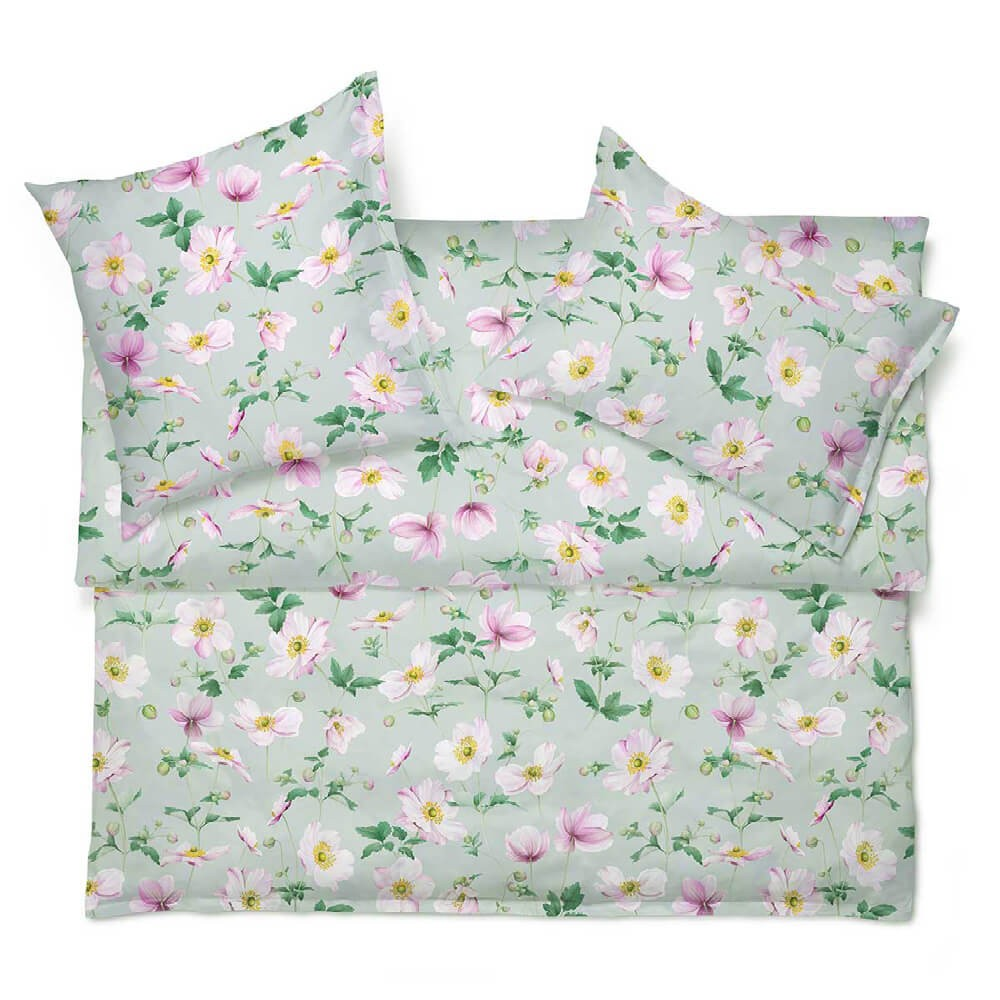 Linge de lit imprimé CLARA en satin de coton luxueux de Schlossberg