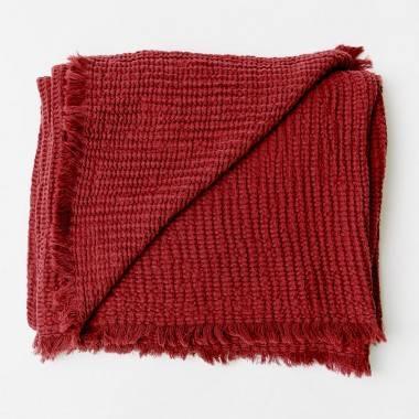Waffelplaid MARTA aus Bio-Baumwolle