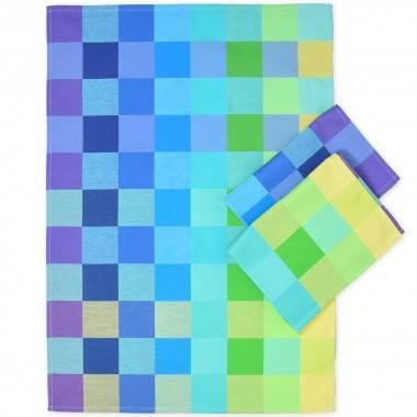 Graphisches Küchentuch DOMINO mit faszinierendem Farbenkaro
