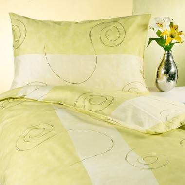 Bettwäschegarnitur DAUPHINE aus Baumwollsatin