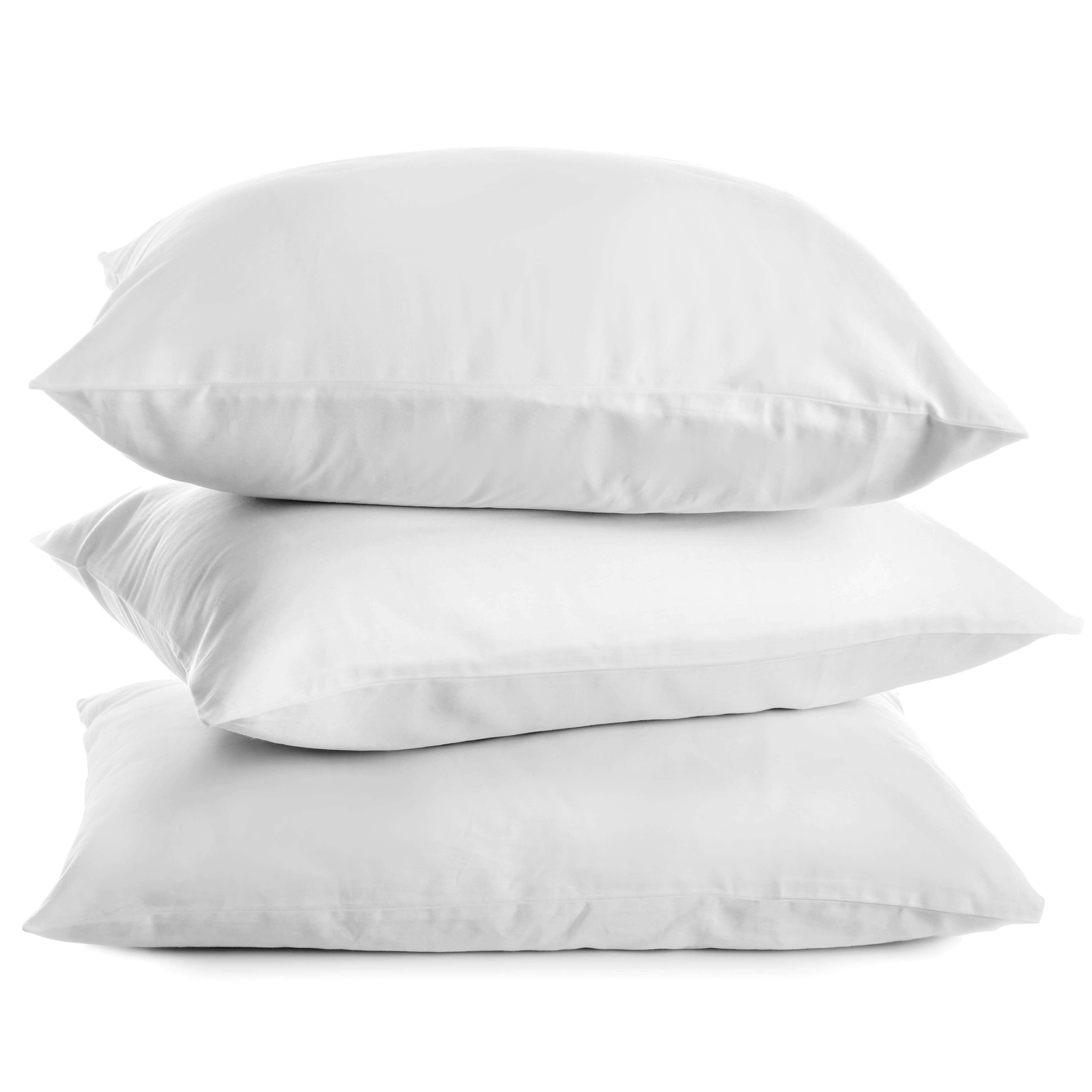 Taie d'oreiller en satin blanc pur coton SERAPHIN