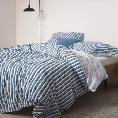 Gestreifte Bettwäsche SIMO aus Baumwolle