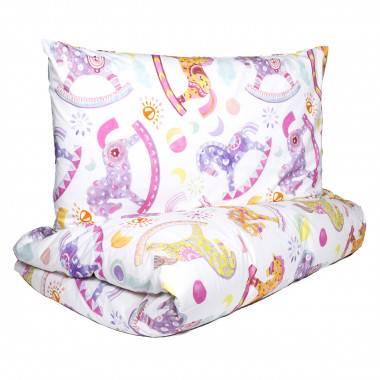 Bedruckte Kinder-Bettwäschegarnitur aus Baumwollpercale